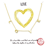 Love Spaced Letter Necklace in Silver or Gold Plated - Bettina's Collection