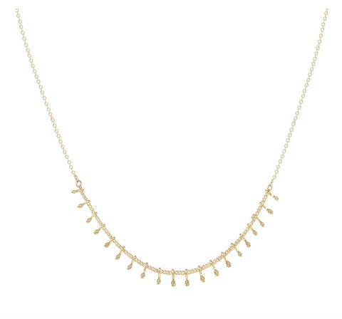 Lisette Gold Fringe Necklace - Bettina's Collection