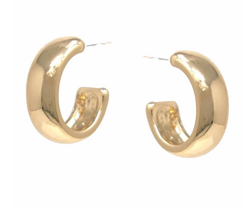 Wide Mini Hoop Earrings