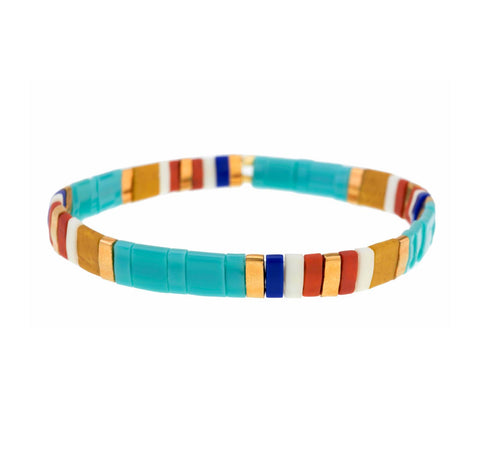 Tilla Turquoise Tribal Bracelet - Bettina's Collection