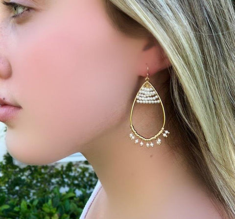 Serafina Pearl Teardrop Earrings