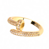 Open Pave Nail Ring - Bettina's Collection