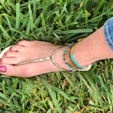 Beaded Anklet in Brown or Turquoise - Bettina's Collection