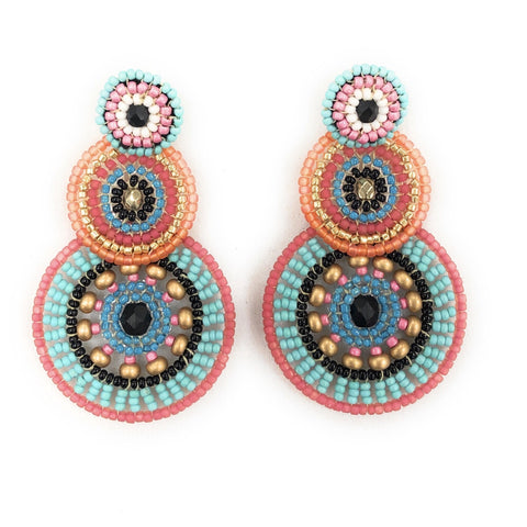 Marilla Multi- Color Triple Drop Earrings