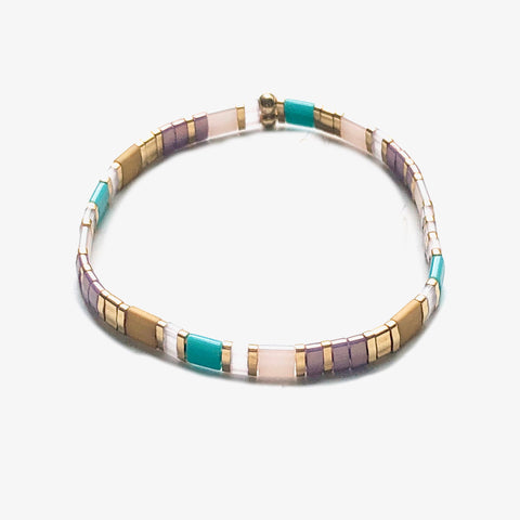 Pastel and Turquoise Tilla Bracelet - Bettina's Collection