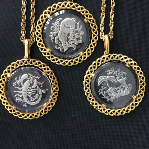 Vintage Large Horoscope Necklaces - Bettina's Collection