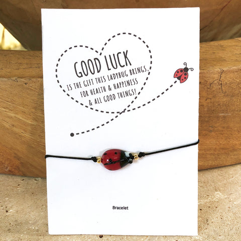 Good Luck Ladybug String Bracelet - Bettina's Collection