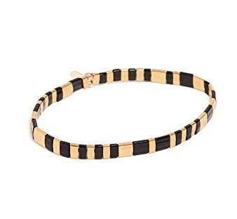 Tilla Black and Gold Bracelet - Bettina's Collection