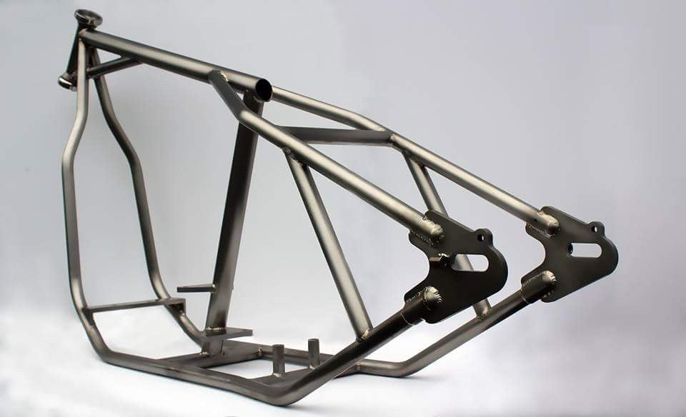 Wasted and Wounded Wishbone Chopper Frame – Faith Forgotten Choppers