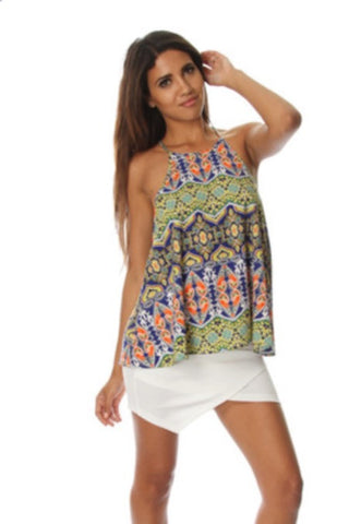 Vibrant Baroque loose fit top