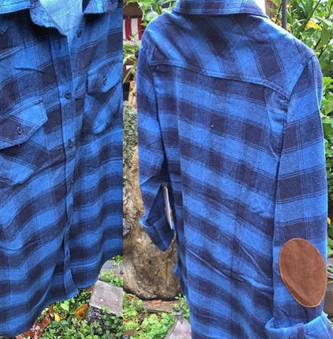 Flannel plaid with patches