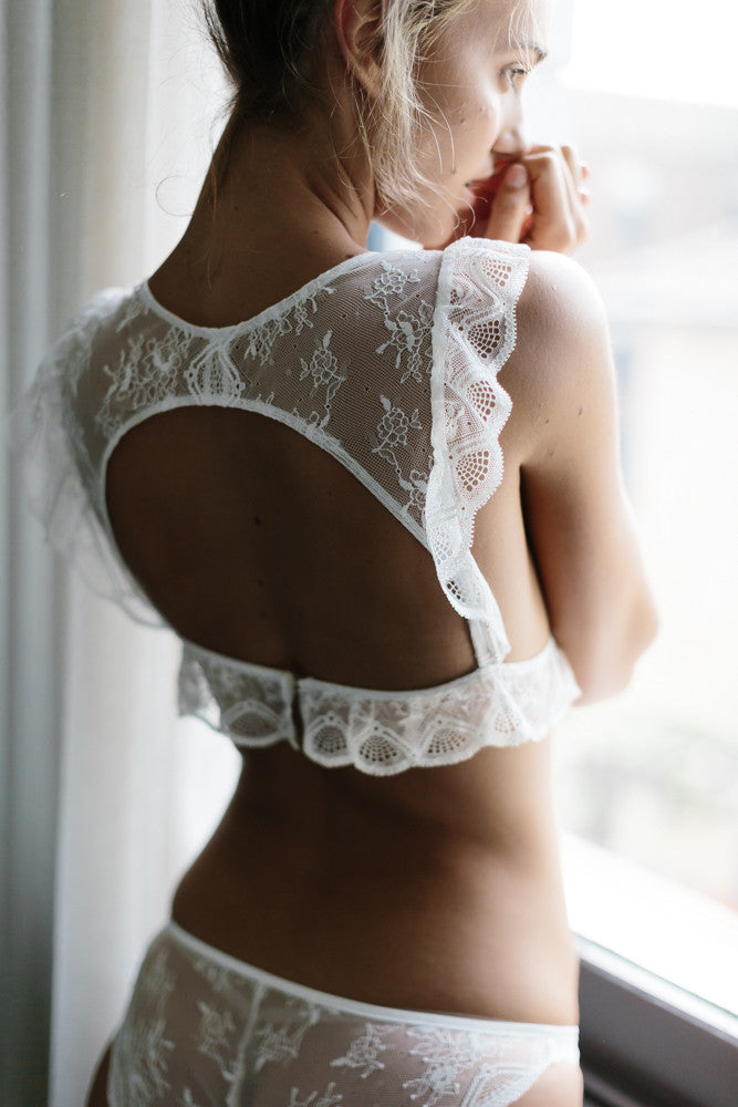 Dulcet Frill Bralette in Natural