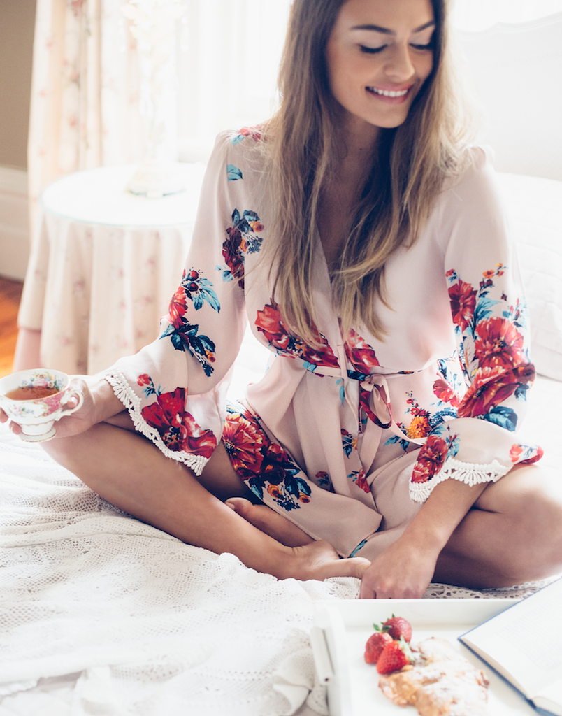 Robe No.2 in Rose Print