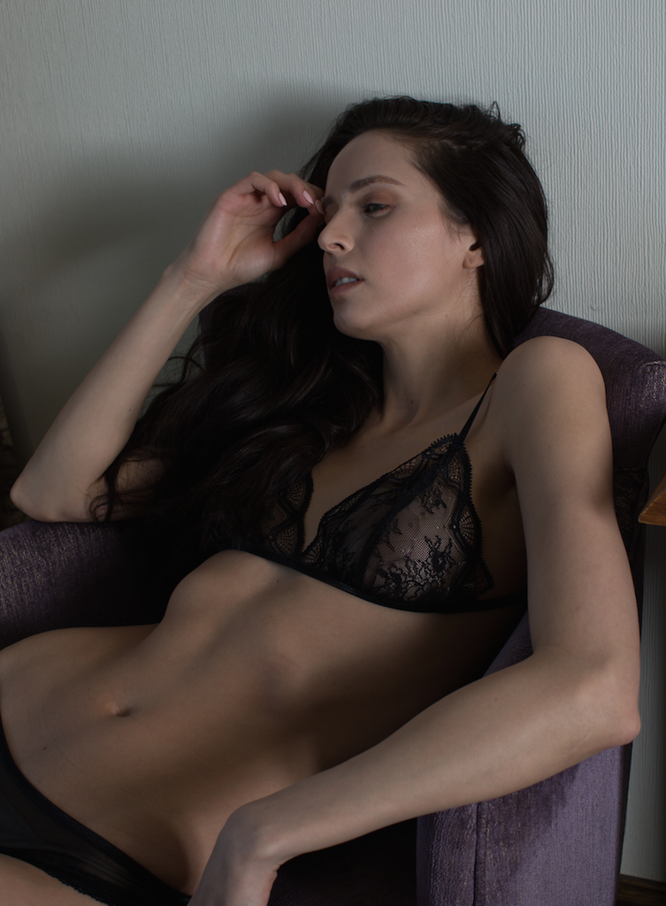 Ethereal Bralette in Black