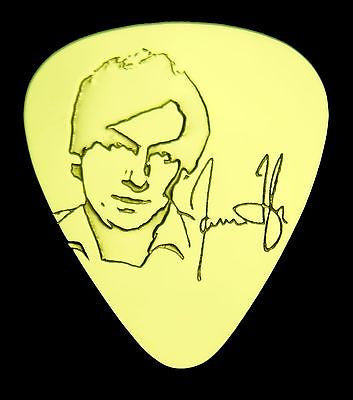 JAMES TAYLOR - Solid Brass Guitar Pick, Acoustic, Electric, Bass