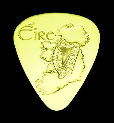 IRELAND - EIRE- Solid Brass Guitar Pick<br>Acoustic, Electric, Bass, Mandolin