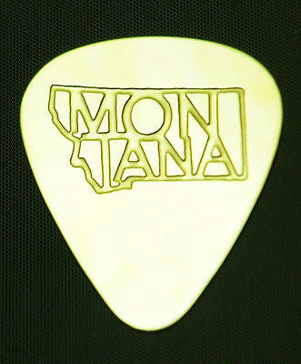 MONTANA - Solid Brass Guitar Pick<br>Acoustic, Electric, Bass, Mandolin