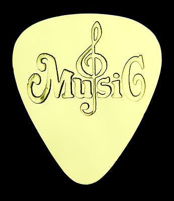 MUSIC - Solid Brass Guitar Pick<br>Acoustic, Electric, Bass, Mandolin