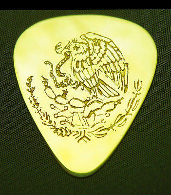 MEXICO-EAGLE & SNAKE<br>Solid Brass Guitar Pick<br>Acoustic, Electric, Bass, Mandolin