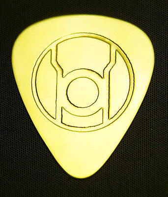 RED LANTERN - Solid Brass Guitar Pick, Acoustic, Electric, Bass