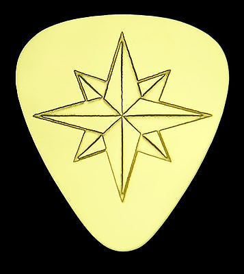 COMPASS STAR - ROSE - Solid Brass Guitar Pick<br>Acoustic, Electric, Bass, Mandolin