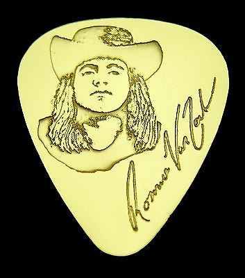 RONNIE VAN ZANT - Solid Brass Guitar Pick, Acoustic, Electric, Bass