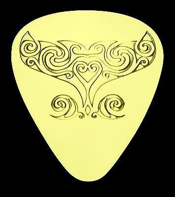 WHALE TAIL - Solid Brass Guitar Pick, Acoustic, Electric, Bass