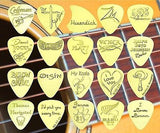 MOTORCYCLE WINGS - Solid Brass Guitar Pick<br>Acoustic, Electric, Bass, Mandolin