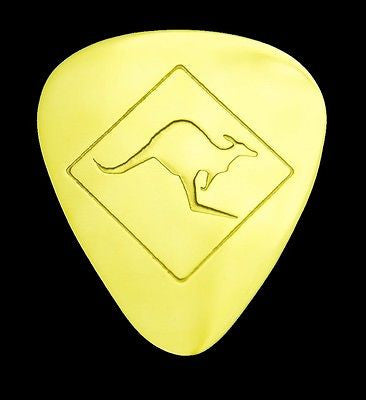 KANGAROO CROSSING -Solid Brass Guitar Pick<br>Acoustic, Electric, Bass, Mandolin