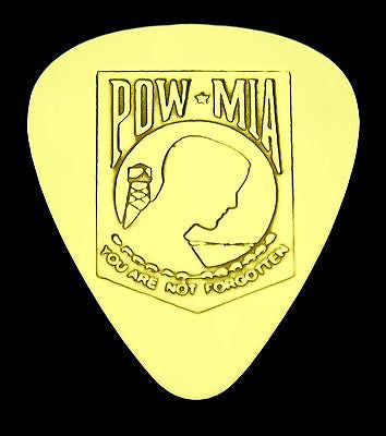 POW MIA - Solid Brass Guitar Pick, Acoustic, Electric, Bass