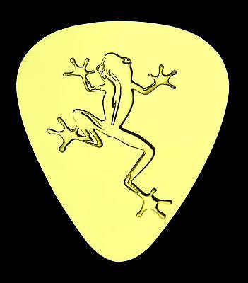 FROG - Solid Brass Guitar Pick, Acoustic, Electric, Bass