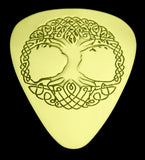 Celtic Tree of Life - Solid Brass Guitar Pick Acoustic, Electric, Bass, Mandolin
