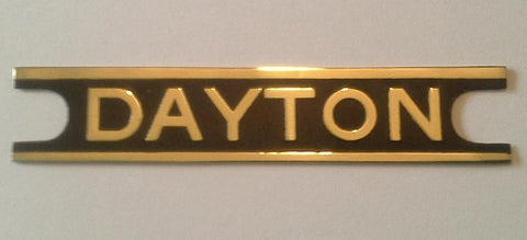 Dayton Fan - Brass Cage Badge Reproduction