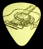 GUITAR SKETCH - Solid Brass Guitar Pick Acoustic, Electric, Bass, Mandolin