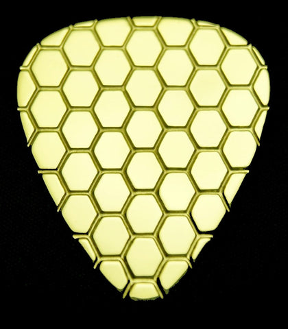 HONEYCOMB - Solid Brass Guitar Pick, Acoustic, Electric, Bass