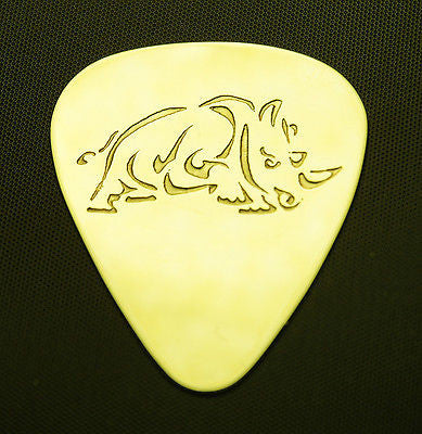 RHINO - Solid Brass Guitar Pick, Acoustic, Electric, Bass
