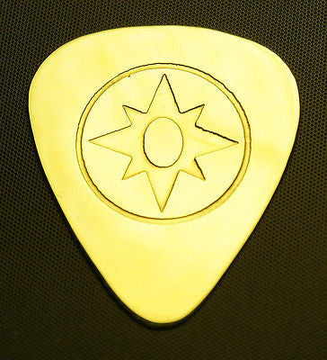 VIOLET LANTERN - Solid Brass Guitar Pick, Acoustic, Electric, Bass