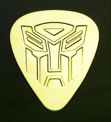 TRANSFORMER  AUTOBOT - Solid Brass Guitar Pick, Acoustic, Electric, Bass