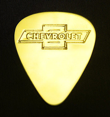 CHEVROLET - Solid Brass Guitar Pick<br>Acoustic, Electric, Bass, Mandolin
