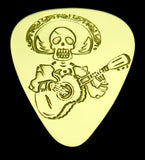 MARIACHI SKELETON - Solid Brass Guitar Pick Acoustic, Electric, Bass, Mandolin