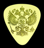 Russian Double-Headed Eagle - Solid Brass Guitar Pick<br>Acoustic, Electric, Bass, Mandolin