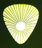 RISING  SUN - Solid Brass Guitar Pick, Acoustic, Electric, Bass