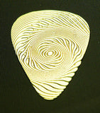 BLACK HOLE - SPIRAL- Solid Brass Guitar Pick<br>Acoustic, Electric, Bass, Mandolin