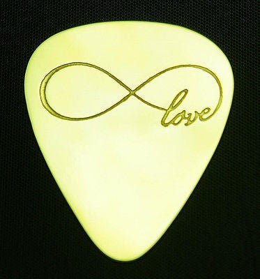 INFINITE  LOVE - Solid Brass Guitar Pick<br>Acoustic, Electric, Bass, Mandolin