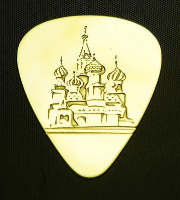 ST  BASIL'S  CATHEDRAL - Solid Brass Guitar Pick, Acoustic, Electric, Bass