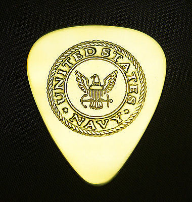 US NAVY - Solid Brass Guitar Pick, Acoustic, Electric, Bass
