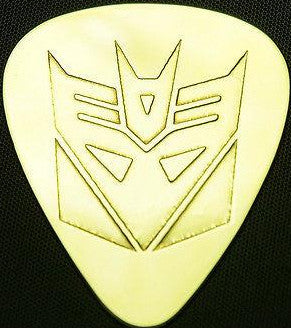 TRANSFORMER  DECEPTICON - Solid Brass Guitar Pick, Acoustic, Electric, Bass