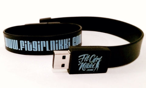 [Accessories] Fit Girl Nikki 2 GB USB Wristband - Fit Girl Nikki eShop