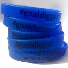 [Accessories] Glow in the Dark #GoalDigger Silicone Wristband - Fit Girl Nikki eShop