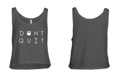 [Apparel] Women's Don't Quit Crop Tank - Fit Girl Nikki eShop